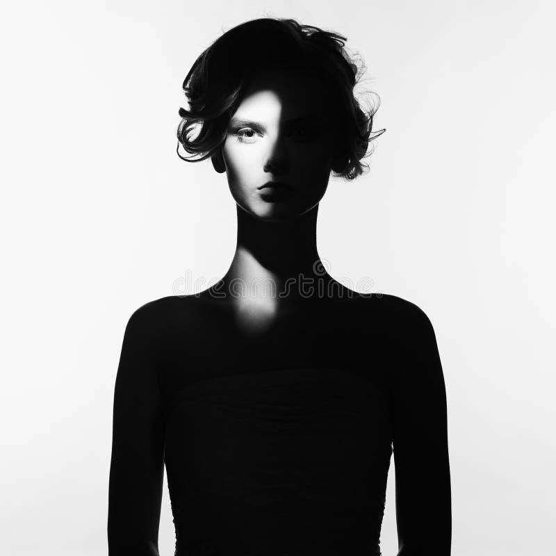Ritratto surrealista della giovane signora fotografie stock libere da diritti