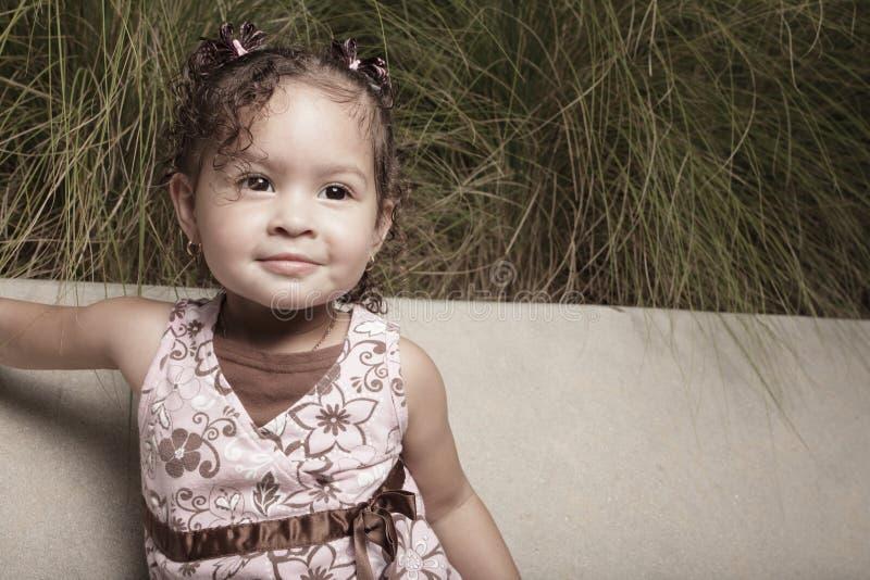 Ritratto sveglio della bambina fotografia stock