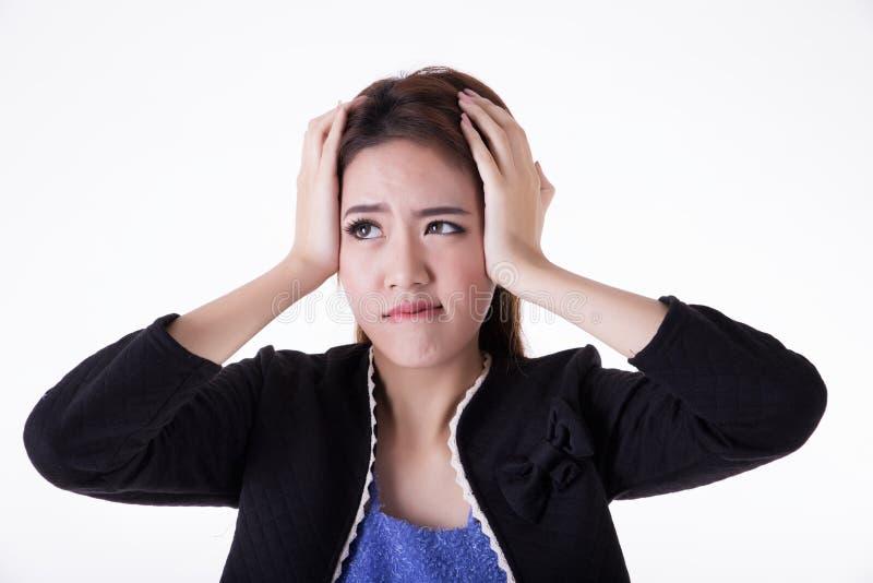 Ritratto tailandese attivo asiatico del ritratto woman fotografia stock libera da diritti