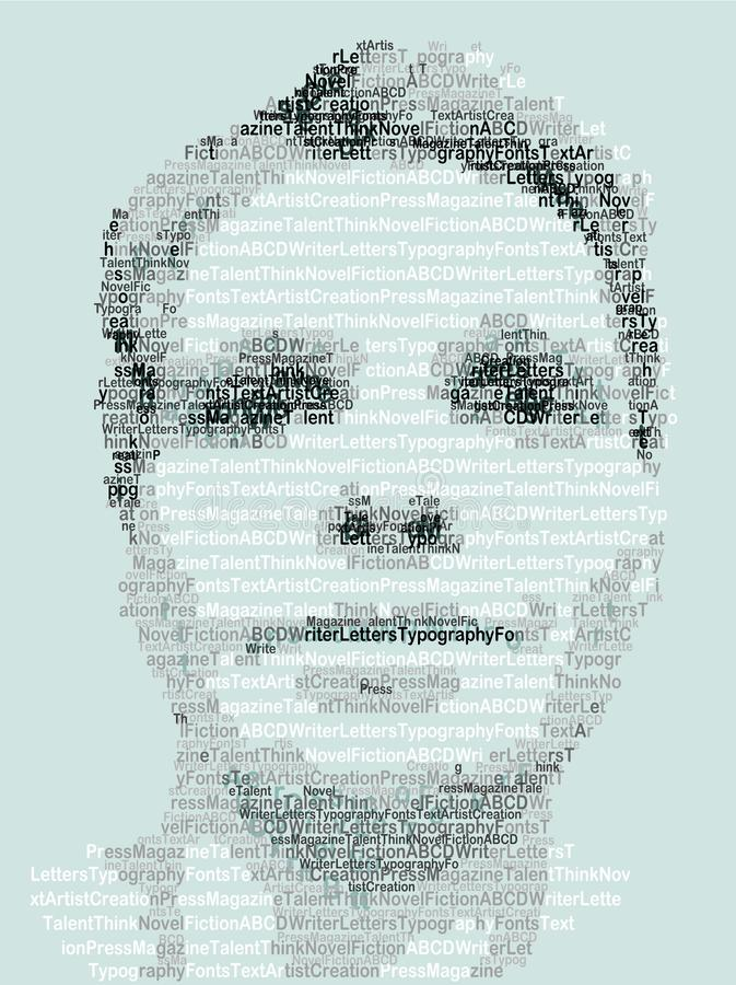 Ritratto umano fatto con le lettere royalty illustrazione gratis
