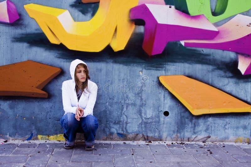 ritratto urbano fotografia stock