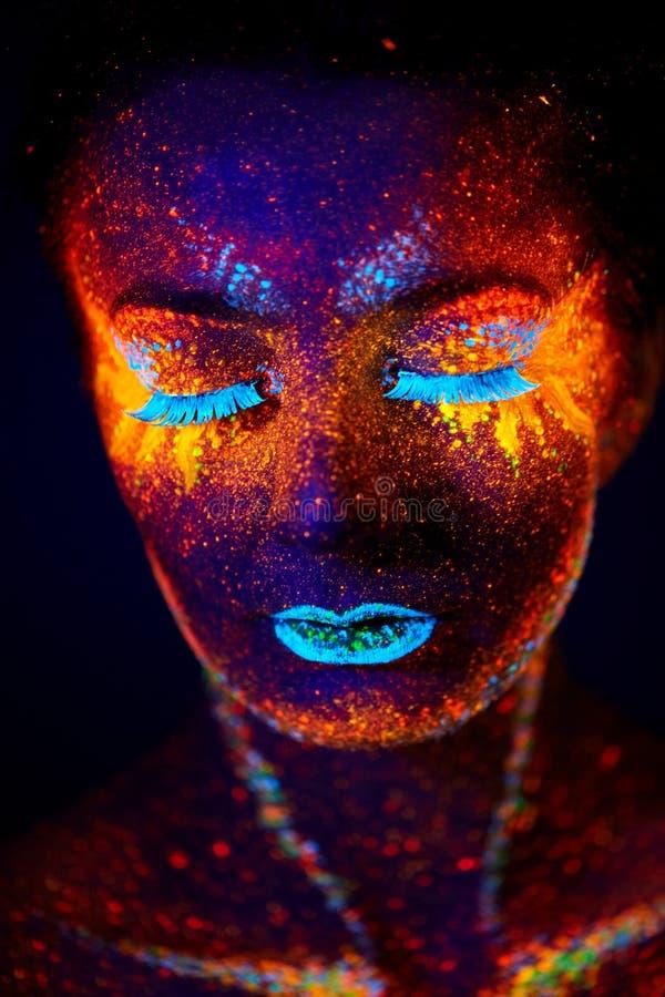 Ritratto UV immagine stock
