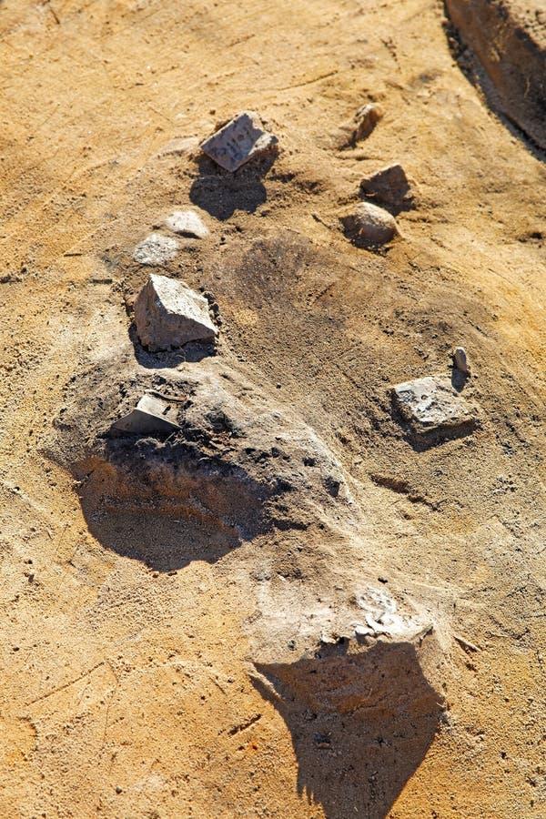 Ritrovamenti archeologici del periodo della cultura di Kulay, l'età del ferro fotografie stock