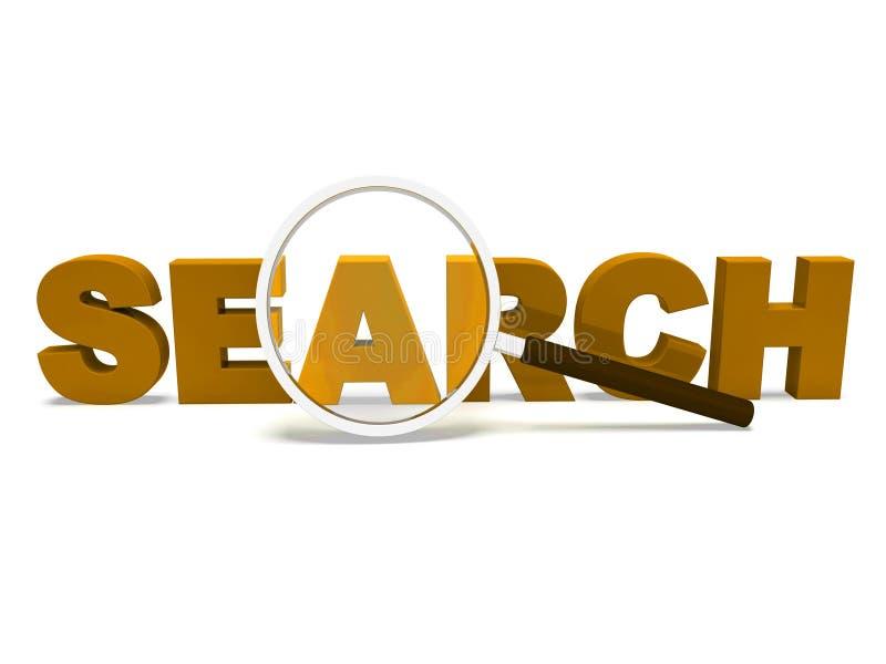 Ritrovamento di web di manifestazioni di dato di ricerca ed online ricercare royalty illustrazione gratis