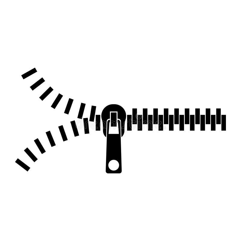 Ritssluitingssilhouet – voorraadvector vector illustratie