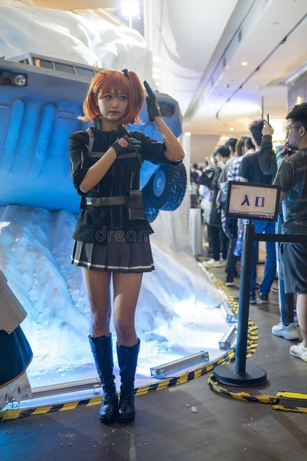 Ritsuka Fujimaru cosplayer στη Sony EXPO 2019 στοκ εικόνες