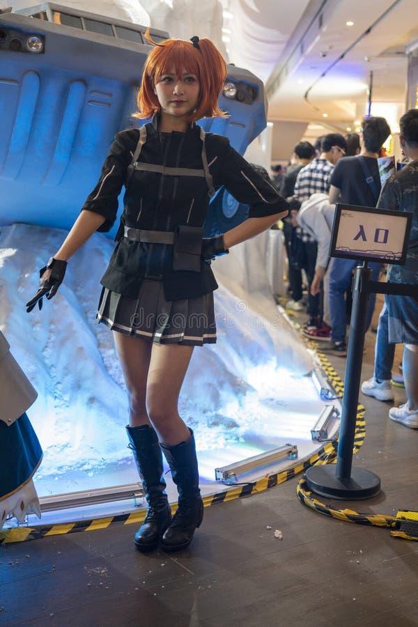 Ritsuka Fujimaru cosplayer στη Sony EXPO 2019 στοκ εικόνα