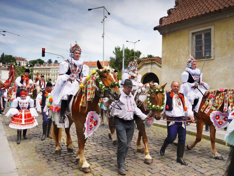 Ritt av konungarna, kulturell ceremoniel, UNESCO royaltyfri bild