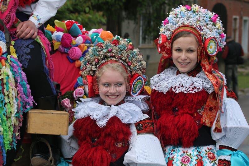 Ritt av konungfolklorefestivalen i Vlcnov, Tjeckien arkivbilder