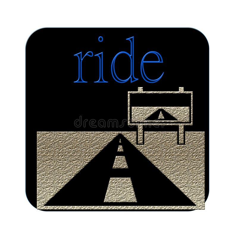 Ritt- och informationsbrädena om väg stock illustrationer