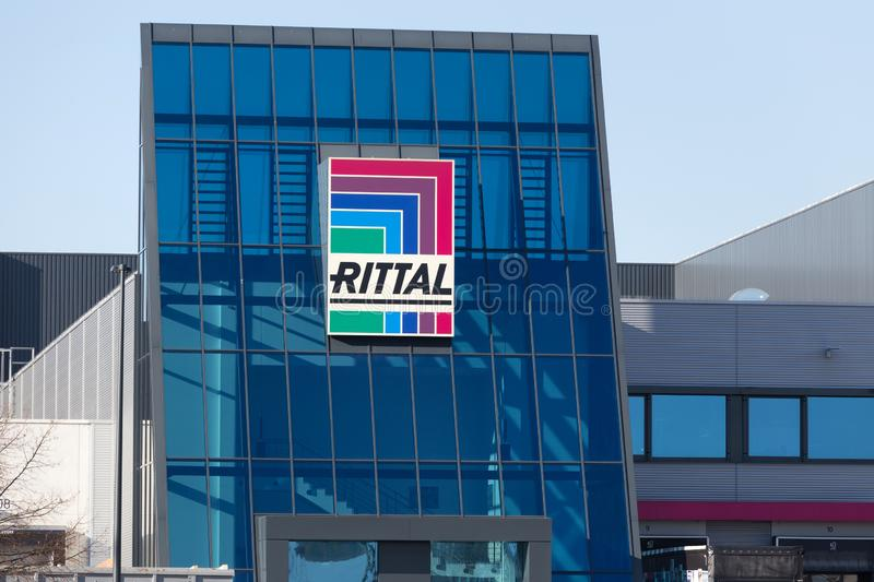 Rittal sign in haiger germany royalty free stock image