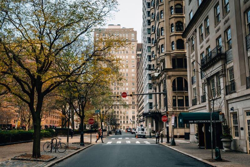 Rittenhouse kwadrat w Filadelfia, Pennsylwania fotografia stock