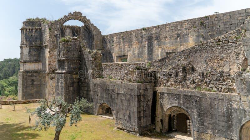 Ritter des Templar oder der Kloster von Christus ziehen sich zurück, führen, Tomar, Portugal einzeln auf lizenzfreie stockfotos