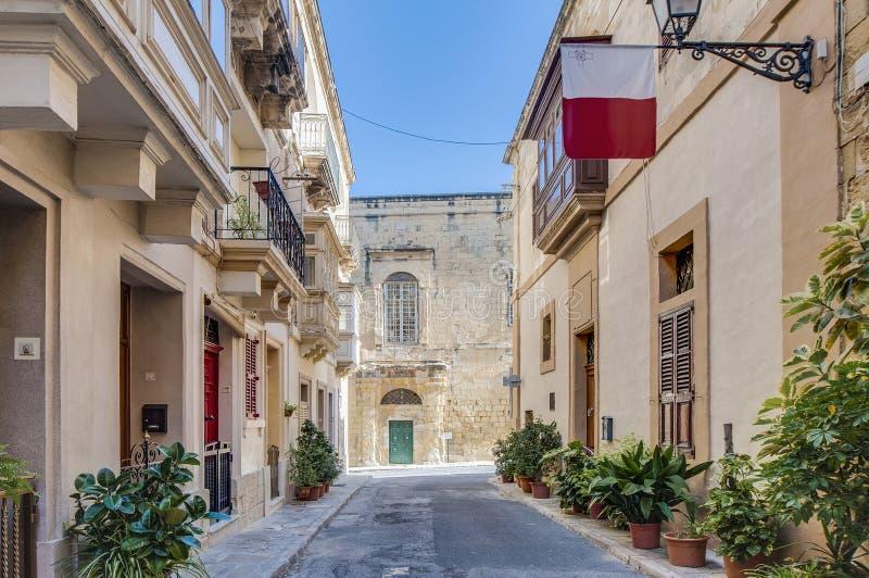 Ritter Hall in Vittoriosa (Birgu), Malta lizenzfreie stockfotos