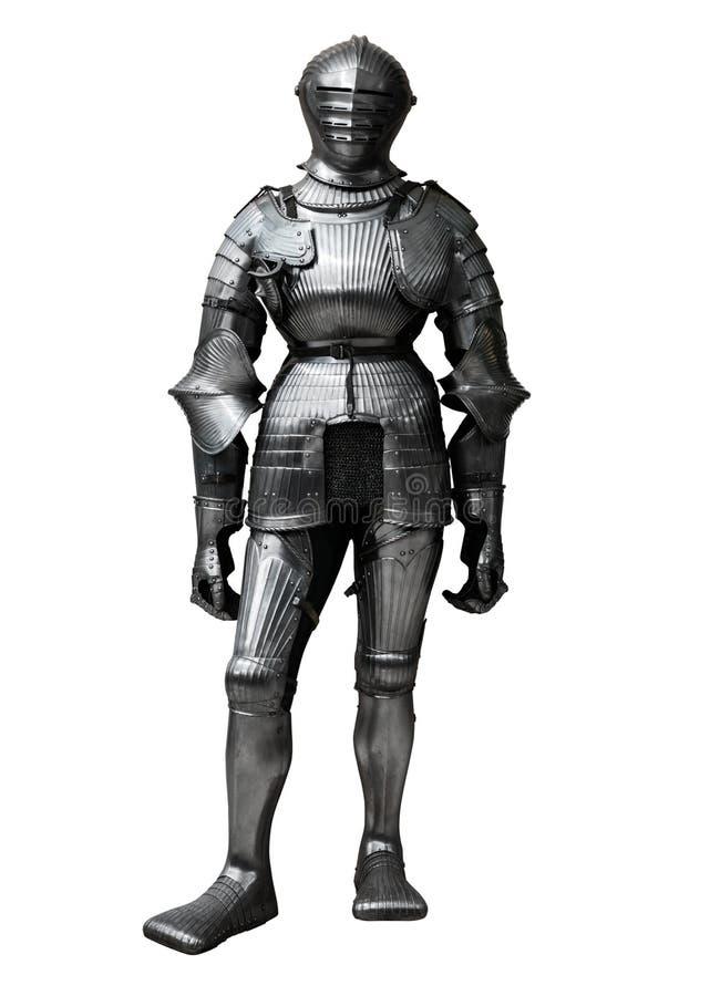 Ritter lokalisiert auf weißem Hintergrund stockfoto