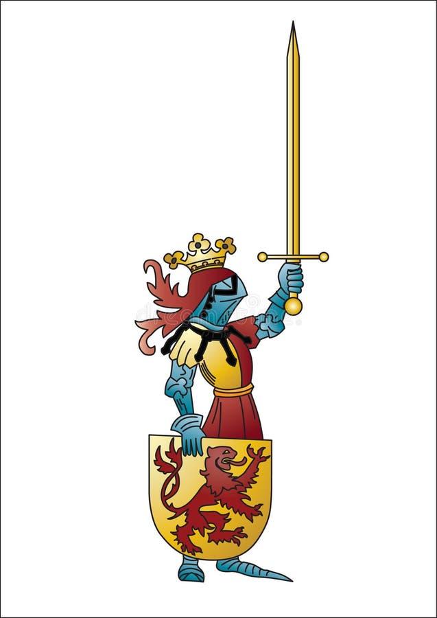 Ritter mit Klinge lizenzfreie abbildung