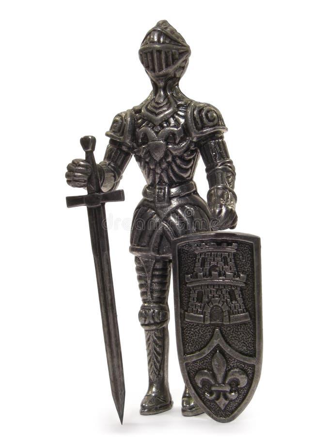 Ritter-Statuette stockfoto