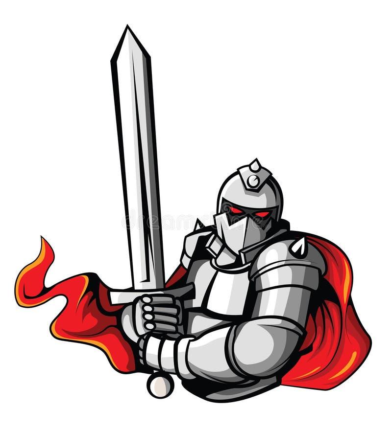 Ritter Warrior Vector Illustration lizenzfreie abbildung