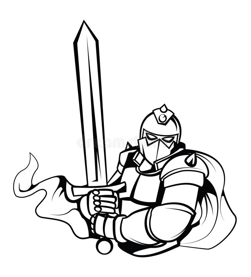 Ritter Warrior Vector Illustration stock abbildung
