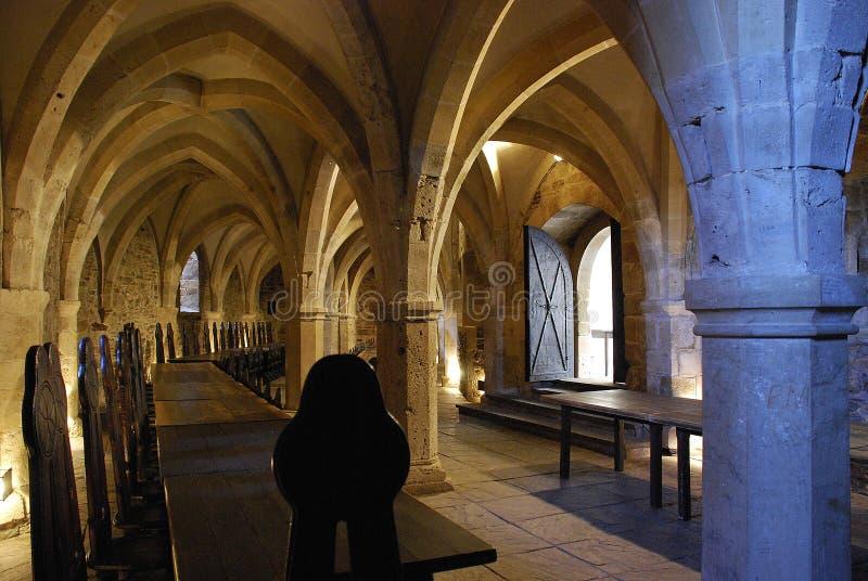 Rittersaal, Burg Lockenhaus, Burgenland, Áustria fotografia de stock royalty free