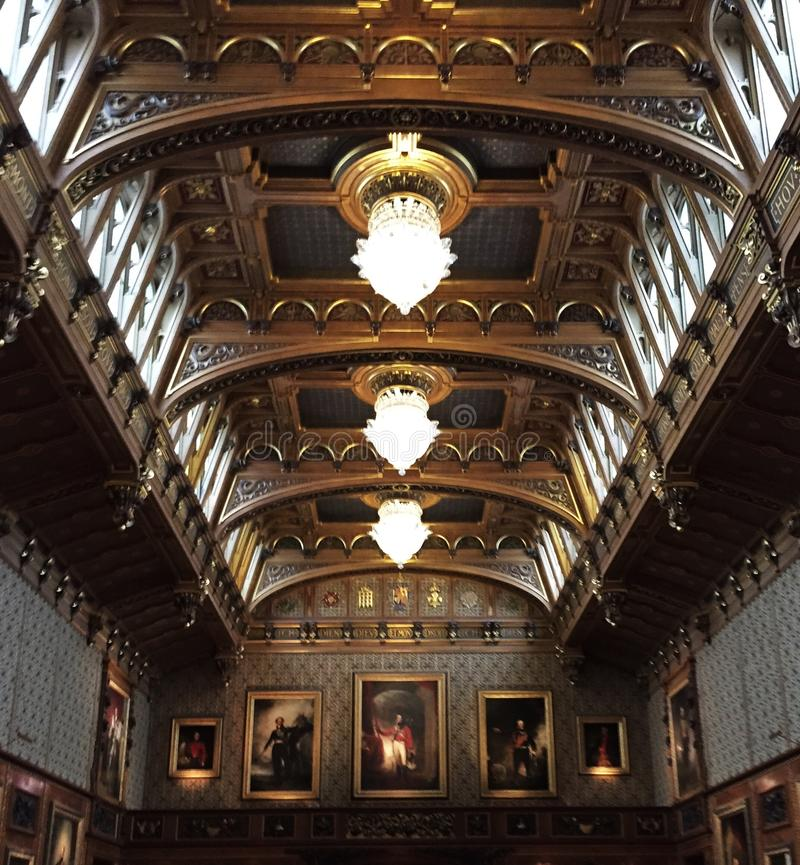 Rittersaal, Burg Lockenhaus, Burgenland, Austria fotos de archivo libres de regalías