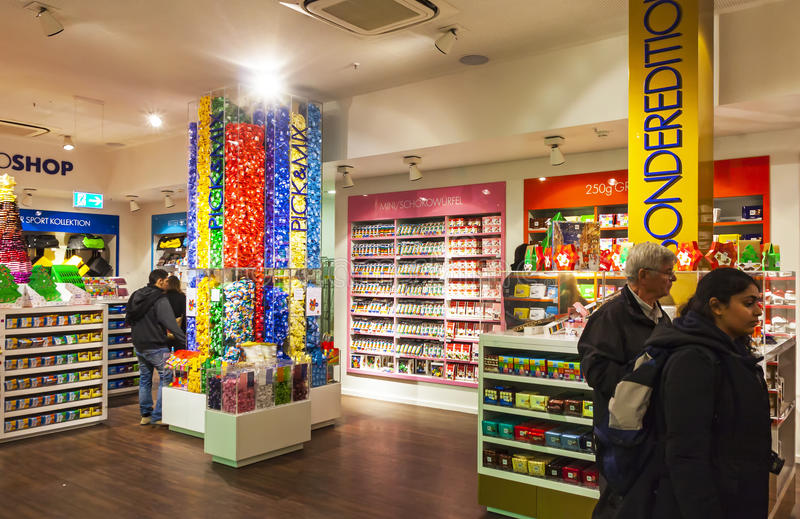 RitterSport chocolate shop in Berlin, Germany stock image