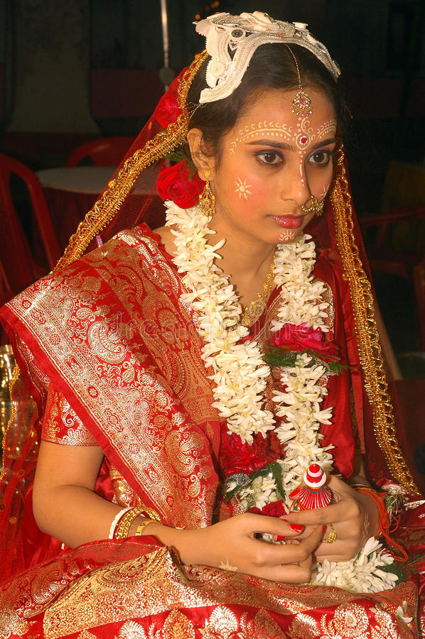 Rituais bengalis do casamento em India imagens de stock