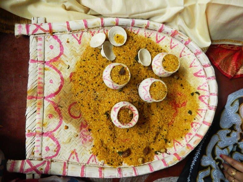 Rituais bengalis tradicionais do casamento fotografia de stock