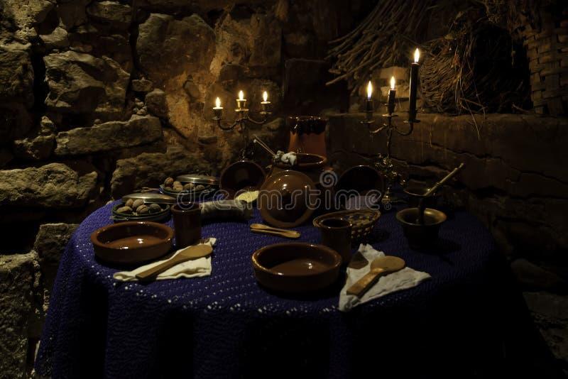 Rituais do altar satânicos fotografia de stock