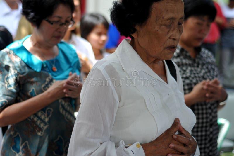 Ritual de Ching Bing imagem de stock royalty free