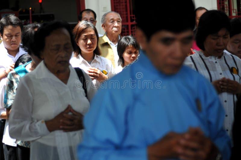 Ritual de Ching Bing foto de stock royalty free