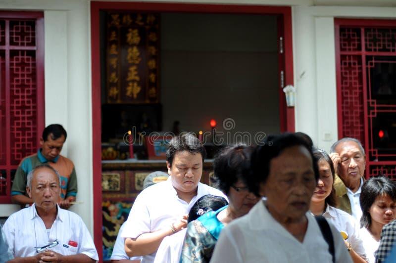 Ritual de Ching Bing fotografia de stock royalty free