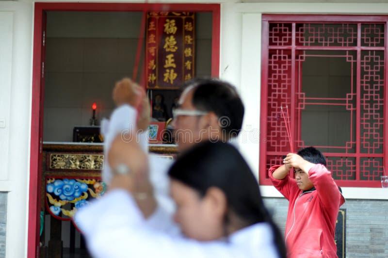 Ritual de Ching Bing imagem de stock