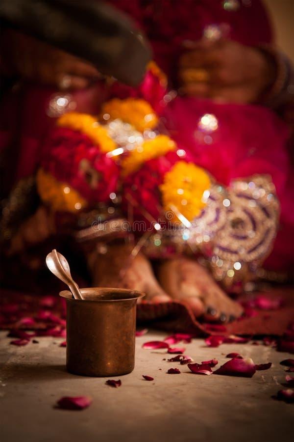 Ritual de la boda en la India imagen de archivo