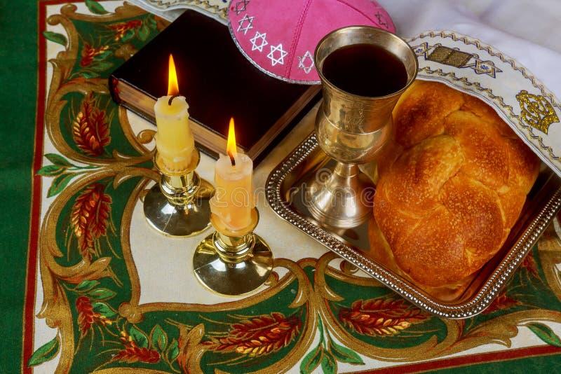 Ritual de Shabbat Shalom Traditional Jewish Sabbath foto de stock royalty free