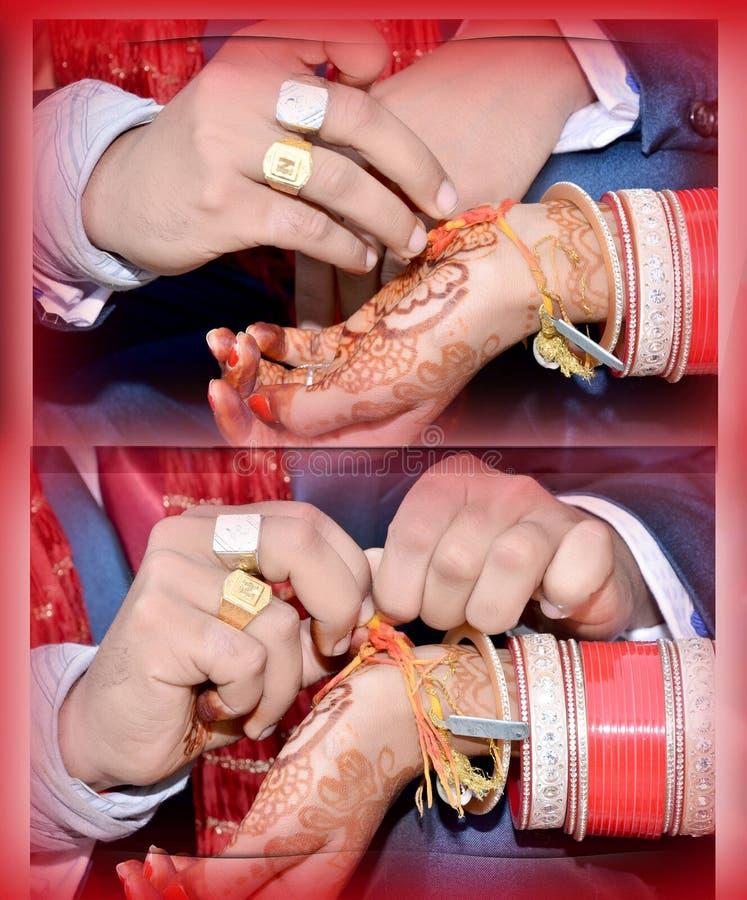 Ritual do casamento em india imagens de stock royalty free