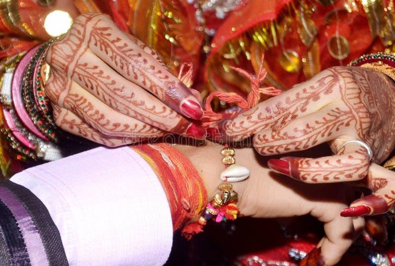 Ritual do casamento em india fotografia de stock royalty free