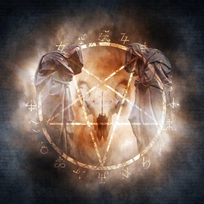 Ritual för svart magi arkivbild