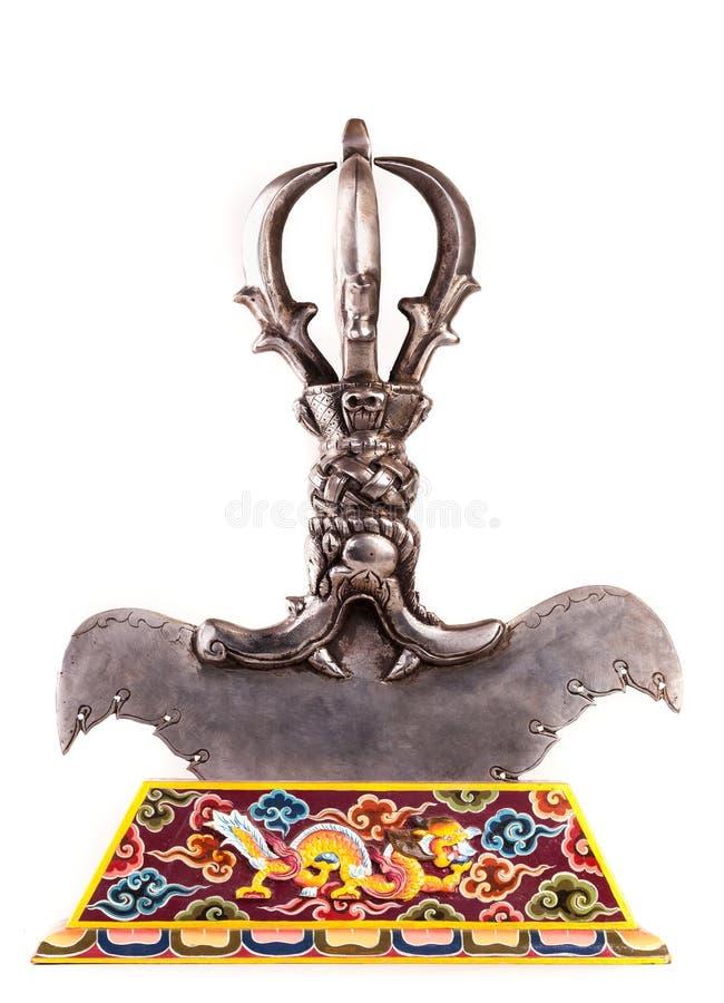 Ritual gebogenes Messer symbolisiert das Abschneiden der Bindung an Ego lizenzfreie stockbilder