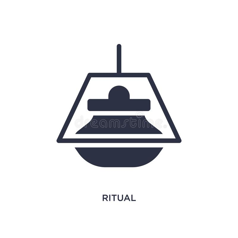 ritual icon on white background. Simple element illustration from magic concept royalty free illustration