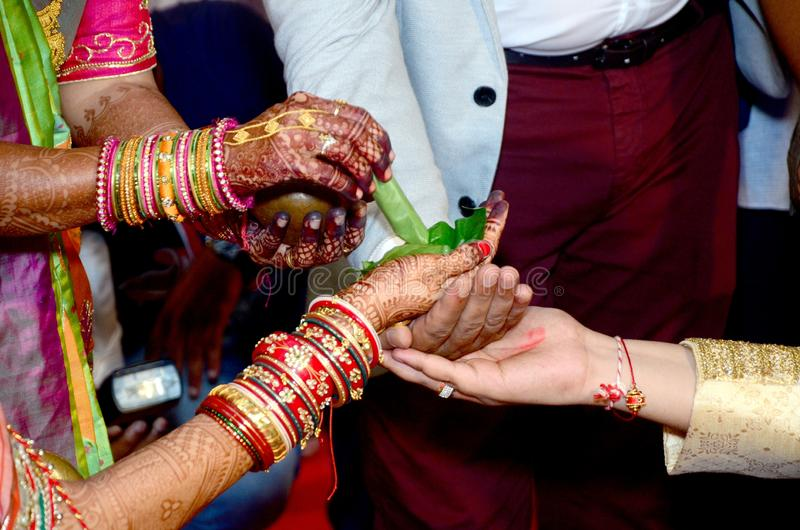 Ritual, Mehndi, Ceremony, Finger royalty free stock images