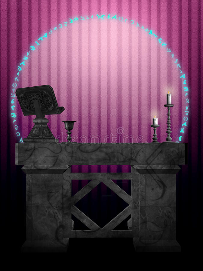 Download The Ritual Room stock illustration. Illustration of goth - 16156101