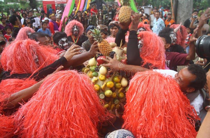 Ritual syawal de Grebeg foto de archivo
