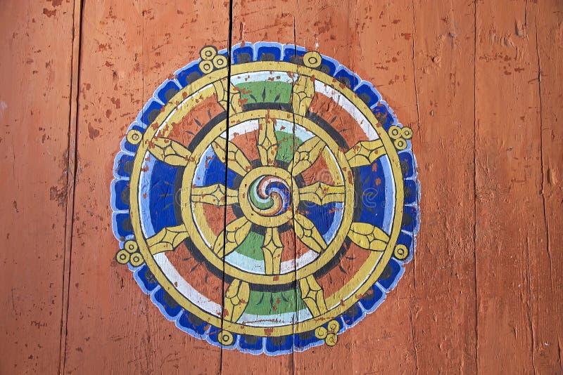 Ritual Symbol At The Jakar Dzong Jakar Bhutan Stock Image Image