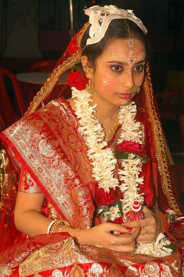 Rituales bengalíes de la boda en la India imagenes de archivo