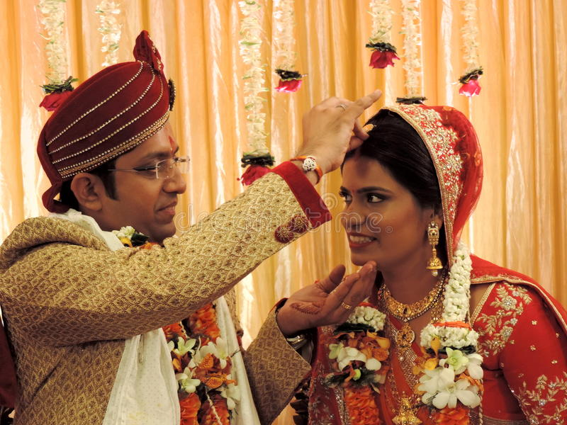 Rituals of traditional Hindu wedding, India. A Hindu wedding is called Vivaha in North India and Kalyanam in South India. The ceremonies are very colourful, and royalty free stock photography