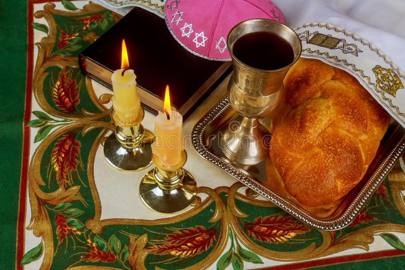 Rituel de Shabbat Shalom Traditional Jewish Sabbath photo libre de droits