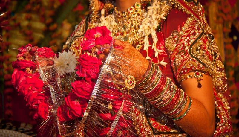 Rituel indou de mariage dans l'Inde photo libre de droits