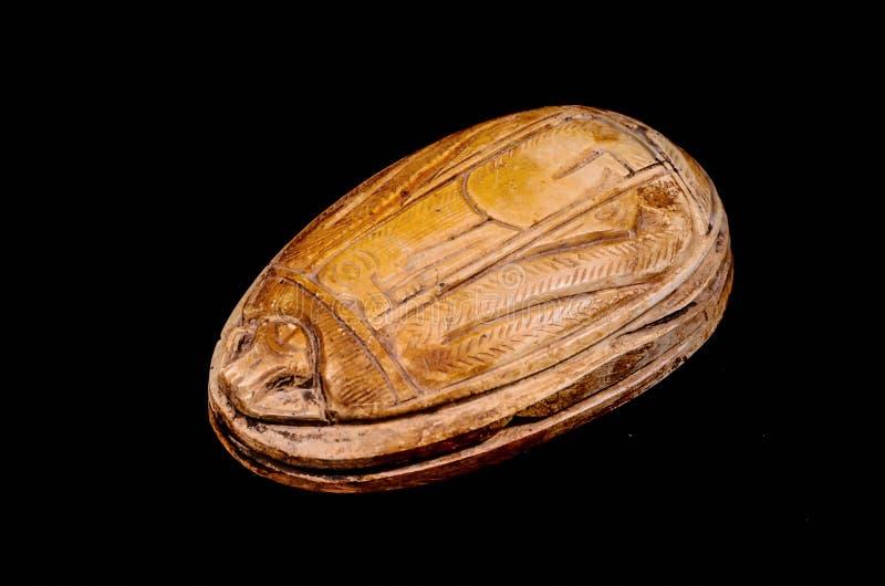 Rituell egyptisk skarabé royaltyfria bilder