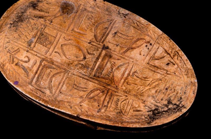 Rituell egyptisk skarabé arkivbild